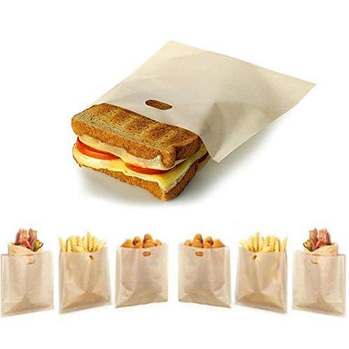 sunflowerany - Bolsas para tostadora, Reutilizables, antiadherentes, de teflón, para sándwiches de Queso a la Parrilla (10 Unidades)
