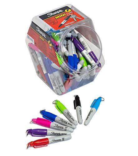 Sharpie Mini-markeerstift, volwassenen, pak van 70 stuks, verschillende kleuren, markeerstiften, gemengde kleuren, jerrycan van 72 stuks, meerkleurig, één maat