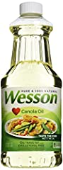 Includes one 48-ounce container of WESSON Pure Canola Oil Light, delicate flavor and nutritional value make it an excellent base for marinades and vinaigrettes Highly versatile cooking oil for grilling, baking, frying and more Contains 0 grams of tra...