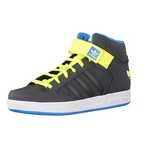adidas Varial Mid J - Zapatillas para niño, Color Gris/Lima/Azul, Talla 28