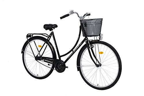 28 Zoll Damen City Rad Holland Fahrrad Bike CITYFAHRRAD DAMENFAHRRAD HOLLANDFAHRRAD HOLLANDRAD DAMENRAD Rad Bike Beleuchtung STVO Rücktrittbremse Rücktritt Paradise S 2020 SCHWARZ