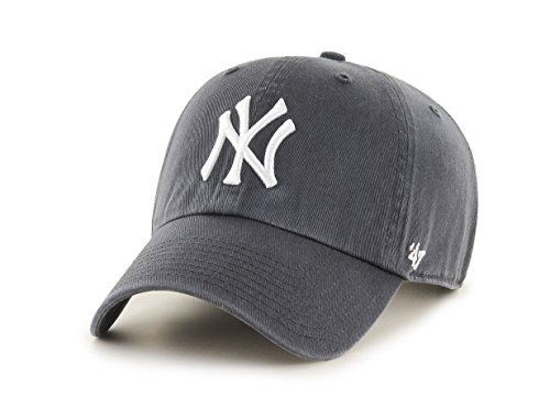 47 Brand Erwachsene Mlb New York Yankees Clean Up Kappe, Charcoal, OSFA