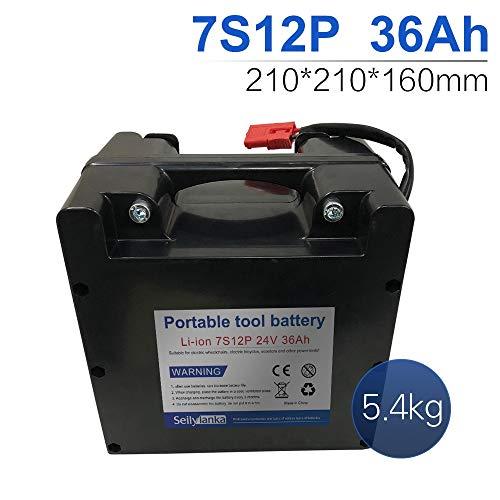 24V Li-ion batería dedicada a sillas de ruedas eléctricas Batería de plomo-ácido reemplazable 12Ah 15Ah 18Ah 24Ah 27Ah 30Ah 33Ah 36Ah 39Ah 42Ah 45Ah 48Ah 51Ah 54Ah 57Ah 60Ah (B-36Ah)