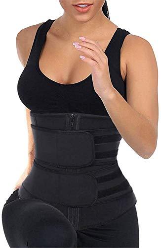 SweatFIT - Recortadora de cintura ajustable para mujer, Mujer, color Negro (, tamaño XXXL