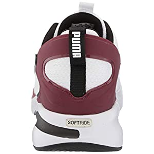 PUMA mens Softride Rift Tech Running Shoe, Puma Whitepuma Blackzinfandel, 10.5 US