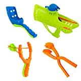 Airhead 4-in-1 Winter Snowball Fight Kit - Includes Snowball Maker, Launcher, Cannon and Slingshot