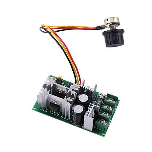 Controlador de velocidad del motor de CC, DC 10-60V Controlador del regulador de velocidad del motor PWM Interruptor del regulador de voltaje variable Módulo de controlador de alta potencia