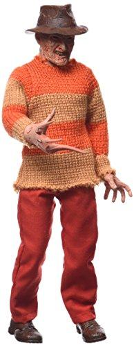 Nightmare On Elm Street Figurine de Jeu vidéo Freddy Classique de 20,3 cm (Rouge/Orange)