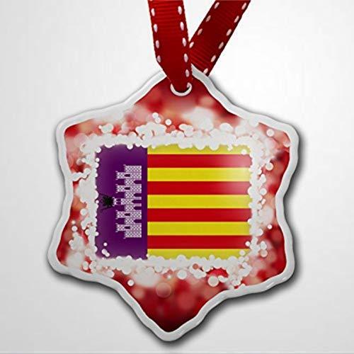 BYRON HOYLE - Adorno de Navidad con bandera de Mallorca (España)
