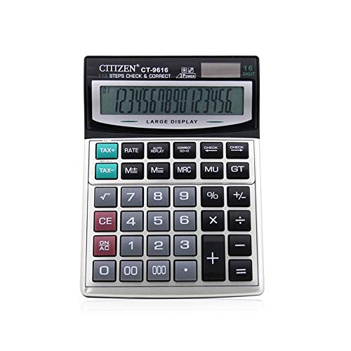 Office Rekenmachine Office 16-bit Oversized Toon grote knop Solar Electronic Desktop Calculator LCD-scherm Office Business Calculation Cijferweergave Standaardfunctie