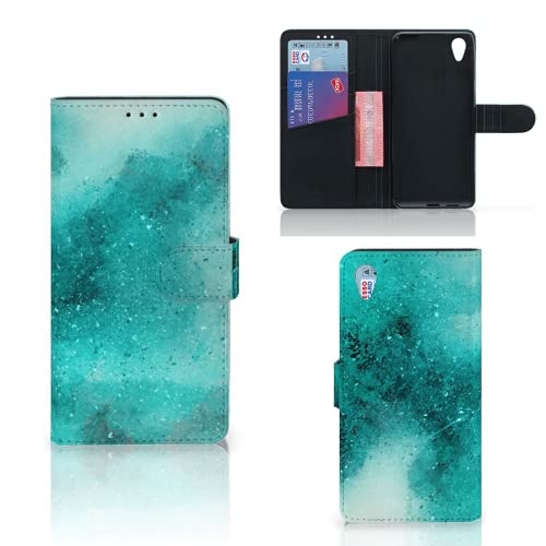 B2Ctelecom Hülle für Sony Xperia XA1 Plus Tasche Malerei Blau