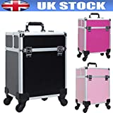Generic Anity Ex Beauty Xtra Lar Box Trolley y Beau Professional Make Up Metic Box Tr Extra Large Storage Color zufällige Aufstellung