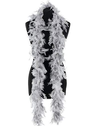 Luxury Silver Grey Feather Boa – 50g -180