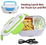 Anandaya - Contenitore elettrico per il pranzo di auto, camion, 220 V e 12 V, 40 W, capacità del contenitore di cibo caldo, 1,5 l, coperchio con cucchiaio incluso e due scomparti
