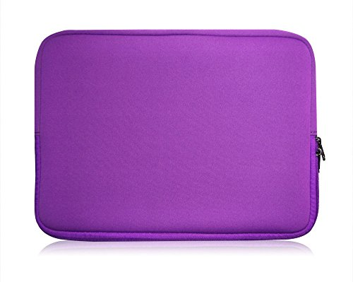 Sweet Tech Purple Neoprene Case Cover Sleeve Suitable for Polaroid 11.6 Inch HD Tablet with Detachable Keyboard (11.6-12.5 inch Laptop)