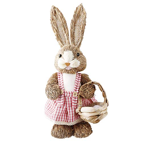 Mrs Bad Easter Bunny Decorations Easter Rabbit Easter Home Decoration Handmade Figurine (14.2 X 5.3 X 3.9inches)
