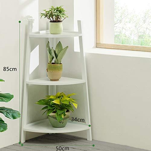 Support de fleurs Bamboo Landing Multi-layer Rack de succulentes intérieur Rack de pot de balcon Étagère de salon trois couleurs 85cm / 115cm de hauteur (Couleur : B, taille : 50 * 34 * 85cm)