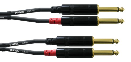 CORDIAL Audiokabel Doppelklinke mono 90 cm