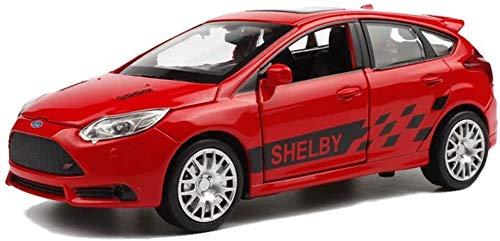 Ford Focus ST1, 32 Simulación de fundición a presión de aleación de Sonido estático Pullback Y Juguete Luz (Color : Red)