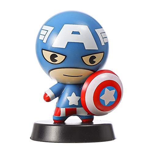 MINISO Marvel Decoration Figure Cute Superhero Playset for Desk Home Office, Captain America