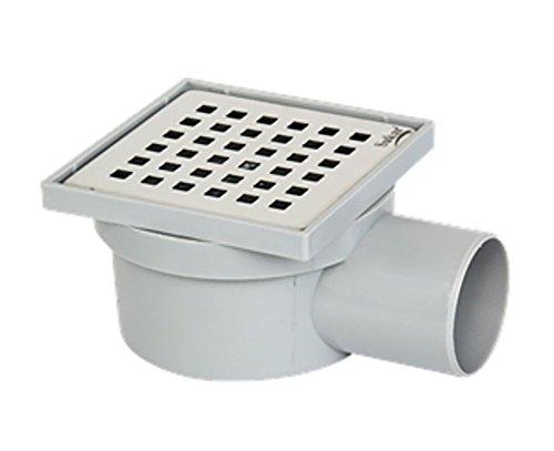 Bodenablauf - Duschablauf 100x100mm Ø 50, Edelstahlrost