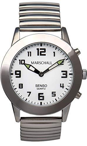 Sprechende Herren-Armbanduhr mit Touch-Funktion MV Metallzugarmband Senso S-HM