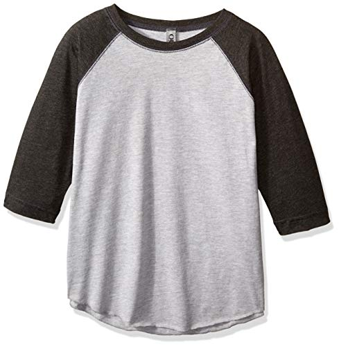 Ouray Sportswear Vintage 3/4 Sleeve Baseball Tee, Vintage Heather/Vintage Smoke, Large