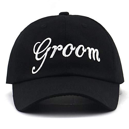 Boné Chapéu de noiva do noivo boné para festa de casamento bordado boné de beisebol masculino algodão ajustável feminino esportes casuais chapéus para o pai de lua de mel preto