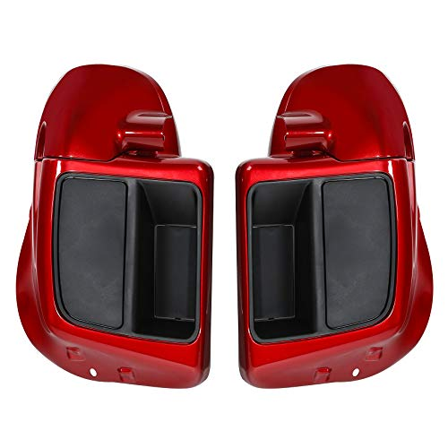 TCMT Wicked Red Vented Lower Fairings Speaker Pods Fit For Harley Touring CVO Street Glide FLHXSE 2014-2020