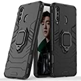 LuluMain Compatible with Galaxy A8s Case, Metal Ring Grip