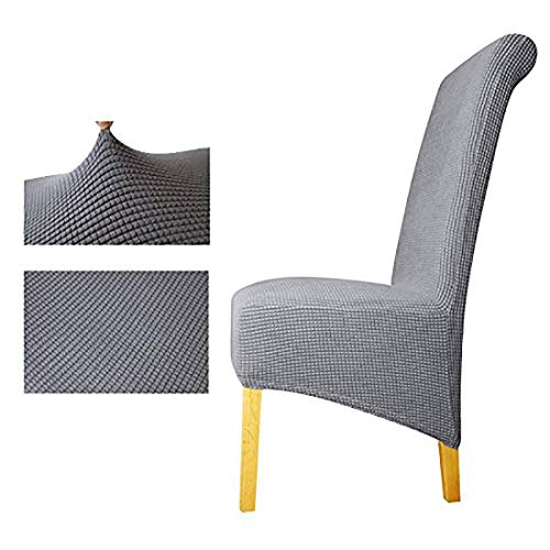 Cubiertas de silla de punto de tejer, silla suave decorativa Fundas de asiento lavables removibles cubiertas de protectores elásticos Cubiertas para el hotel Restaurante Body Party Home Comedor Dirgee