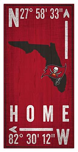 Fan Creations NFL Tampa Bay Buccaneers Unisex Tampa Bay Buccaneers Coordinate Sign, Team Color, 6 x 12