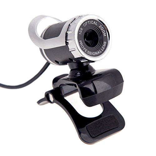 kkmoon 360 Degree Adjustable 50 m Pixel USB 2.0 HD Webcam Camera With Built-In Mic for Skype Computer PC Laptop silver