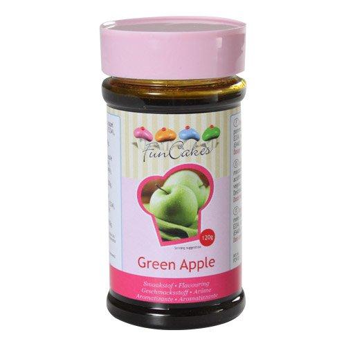FunCakes Aroma de Manzana Verde de FunCakes: Aromas Alimentarios, Gran Sabor, Perfecto para Decorar Pasteles, Adecuado para Masas y Rellenos. 100 g