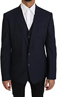 Blazer Vest 2 Piece Blue Wool Martini