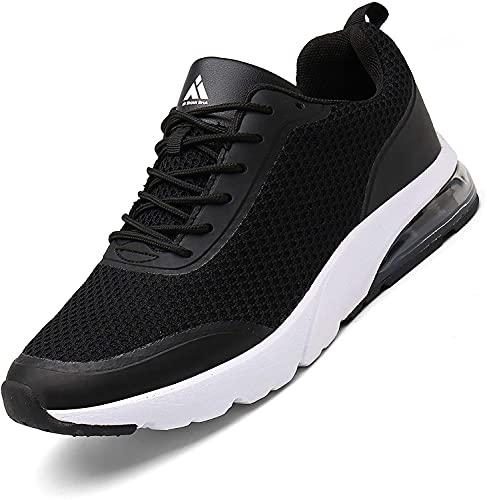Zapatillas Fitness Hombre Aire Libre y Gimnasio Deporte Sneakers Casual Transpirables Zapatos St.1 Negro 46 EU