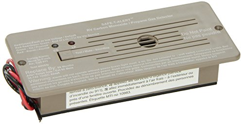 Safe-T-Alert by MTI Industries 35-742-BR 35 Series Dual LP/CO Alarm - Flush Mount, Brown