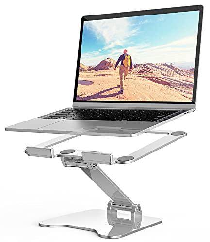 STALNACKER Laptop Ständer Aluminium Schreibtisch Laptop Stand Tisch Faltbar Notebookständer Tragbar Belüfteter Kompatibel mit 10-15,6 inches Notebooks