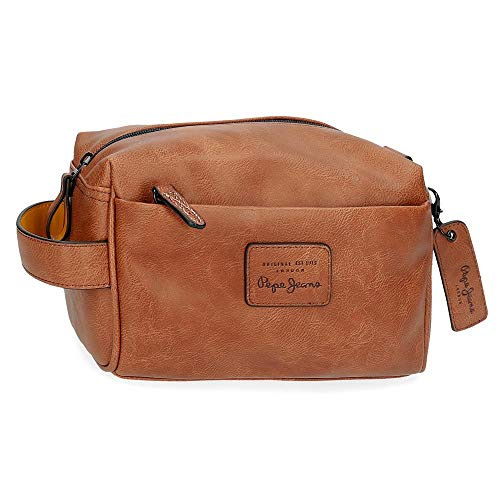 Trousse de Toilette Adaptable Pepe Jeans Vegan Marron