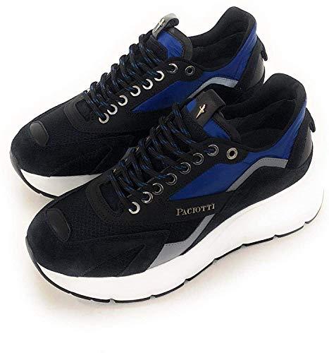 Cesare Paciotti 4US Sneakers Uomo (44, Blu)