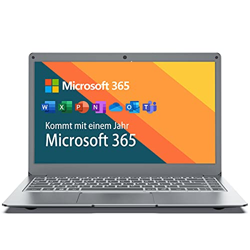 "Jumper Ordenador portátil 13.3"" FullHD (4GB RAM 64GB ROM Laptop Windows 10 Microsoft Office 365 Intel CPU, 2.4G/5G WiFi USB 3.0)-Teclado QWERTY Español"