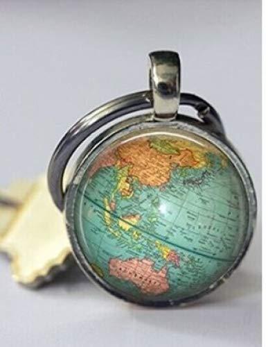 RAINBOW Globe Schlüsselanhänger Weltkarte Planet Erde Geographie Schlüsselanhänger Schlüsselanhänger Zubehör