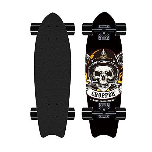 Skateboard para Principiantes, Tabla de Surf de Alto Grado, monopatín de la autopista, Adecuado para Adolescentes de General Pro Skates-A_28 Pulgadas