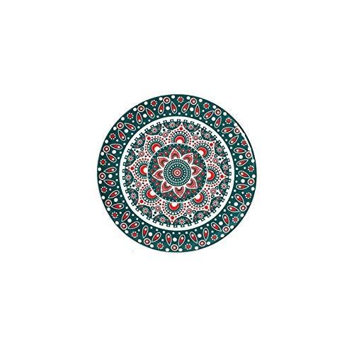YINGYINGSM Plato de Cena Creativos Pintados a Mano bajo vidriado de cerámica Plato de Carne Occidental Postre de Pastel de Sushi Platos Decorativos vajilla de Estilo Bohemio Cocina (Color : J 8inch)