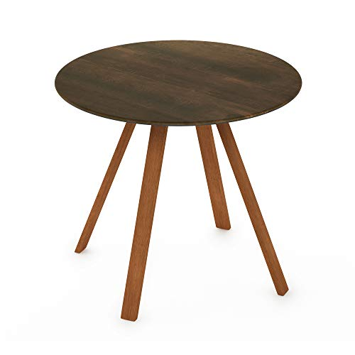 Furinno FST19017WN Redang Outdoor 4-Leg Round Smart Top Table, 36 Inches, Walnut