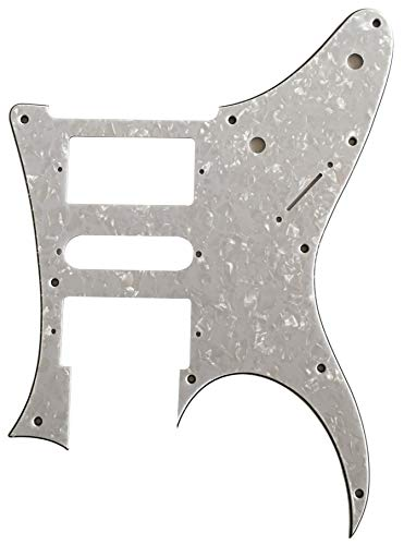 Partes de guitarra izquierda para Ibanez RG 350 EX Style Golpeador de guitarra, Perla blanca de 4 capas.