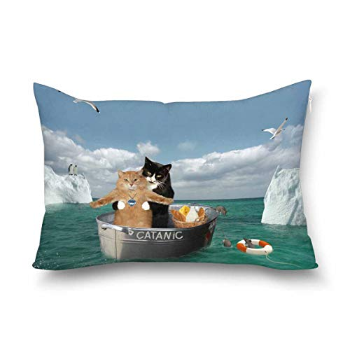 Romantic cats pillow case