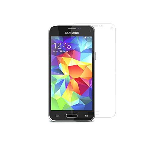 Simplecase Panzerglas passend zu Samsung Galaxy S5 Mini , Premium Displayschutz , Schutz durch Extra Härtegrad 9H , Case Friendly , Echtglas / Verbundglas / Panzerglasfolie , Transparent - 1 Stück