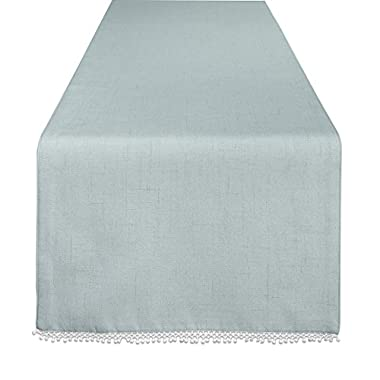 Lenox French Perle Solid 70  Runner, Ice Blue
