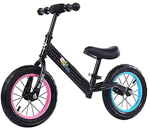 DRAGDS Bicicleta de Equilibrio, Bicicleta de Balance de Niños 12'Bicicleta de Equilibrio para Niños Y Niños Pequeños 2-6 Años de Antigüedad M de Acero Al Carbono sin Pedal Bicicleta de Entrenamiento